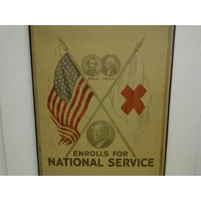 Vintage World War I Enrolls for National Service Members School Poster - Image 5 of 6