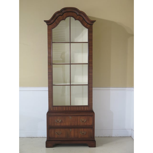 Kittinger Mahogany Bookcase Display Cabinet For Sale - Image 11 of 11