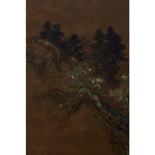 Japanese Four Panel Landscape Byobu Screen For Sale - Image 4 of 13