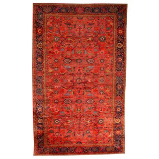 Antique Oversize Persian Sultanabad Carpet For Sale