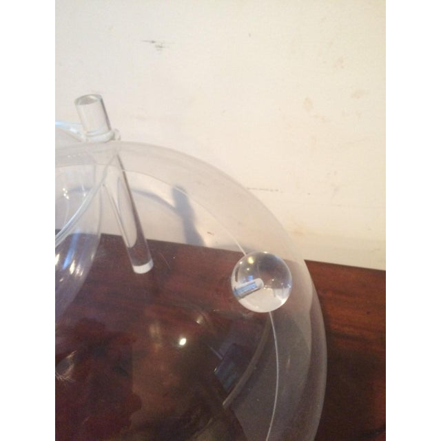 Hollywood Regency Mid-Century Lucite Covered Bowl For Sale - Image 3 of 8