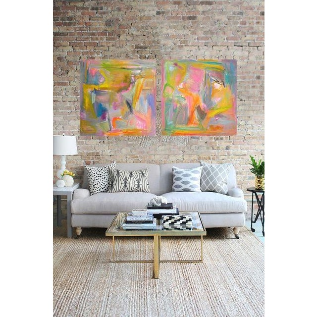 """Abstract """"Midday Miami"""" by Trixie Pitts 36""""x36"""" - Image 4 of 4"""