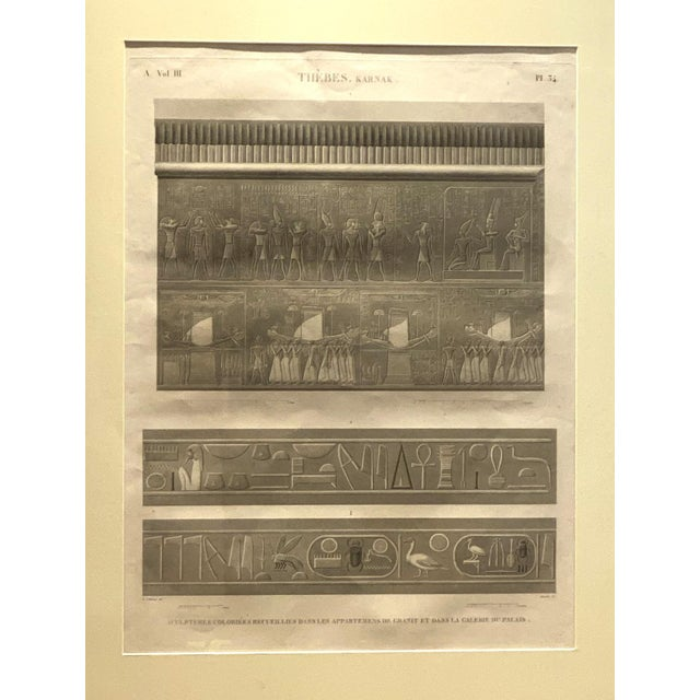 Early 19th Century Engraving of an Egyptian Monument, France Circa 1810 For Sale - Image 5 of 5