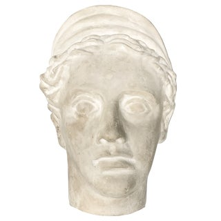 Vintage Plaster Head of Artemis Diana For Sale