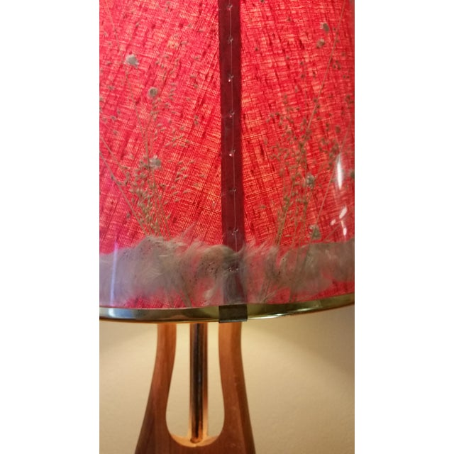 Mid-Century Modern Pearsall Style Walnut Lamp - Image 6 of 11