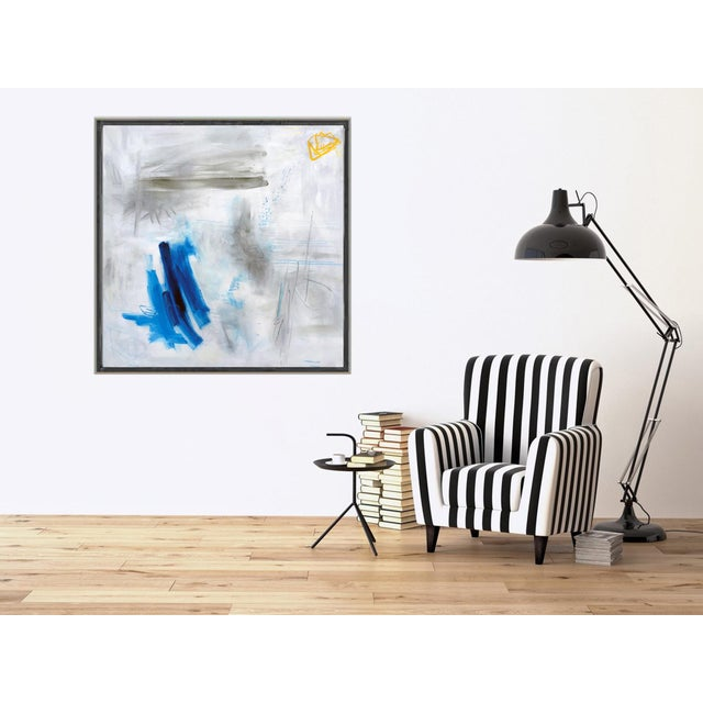 """Blue """"Clearing"""" by Trixie Pitts Large Abstract Oil Painting For Sale - Image 8 of 11"""