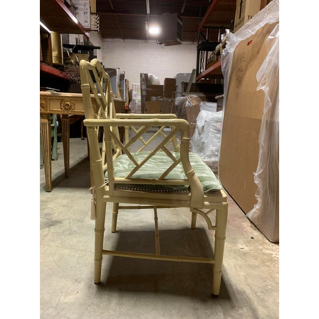 Mid-20th Century Faux Bamboo Dining Chairs- Set of 10 For Sale - Image 10 of 13