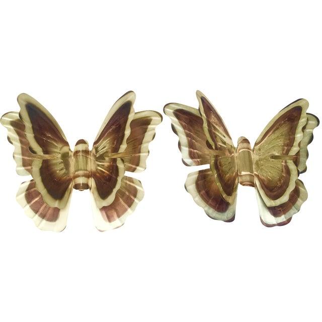 Vintage Metal Butterflies - A Pair - Image 1 of 5