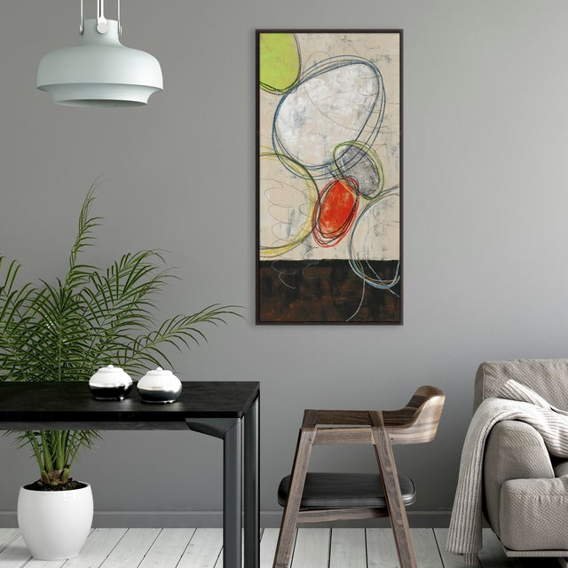 A fun nod to mid-century modern with this gallery-wrapped giclee print on canvas. Strokes of a gel coat over the original...