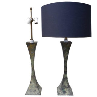 Mid-Century Modern Patina Bronze Table Lamps by Stewart Ross James for Hansen For Sale
