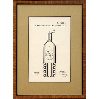 J.G. Marshall Patent Print, Solvent or Detergent Processes, No. 82732, Oct 1868 For Sale