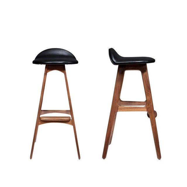 Black Pair of Boyd Counter Stools For Sale - Image 8 of 8