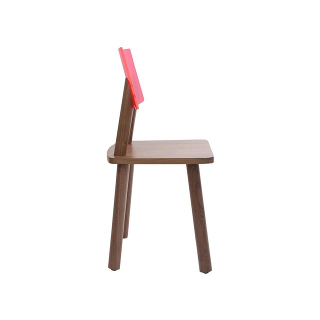 Acrylic Back Solid Walnut Wood Kids Chair. Our AC/BC (ACrylic BaCk) chair is a bedroom staple. A burst of color and a...
