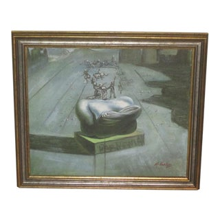 Vintage Surrealist Painting By Varley For Sale