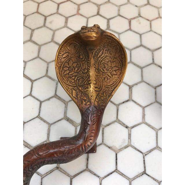 Gold Ombre Brass Cobra Door Handles - A Pair - Image 3 of 10
