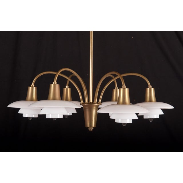 Bombardment Chandelier by Poul Henningsen for Louis Poulsen, 1930s For Sale - Image 6 of 8