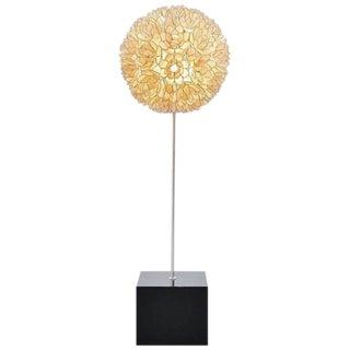 Mother-of-Pearl Floor Lamp, Belgium, 1970
