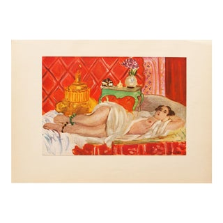 "Henri Matisse Original ""Red Odalisque"" Swiss Period Lithograph, C. 1940s For Sale"