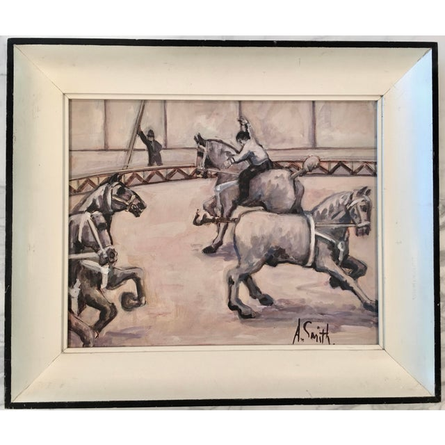 Arthur Smith 'Trick Riding' Original From Circus Series Painting For Sale - Image 12 of 12