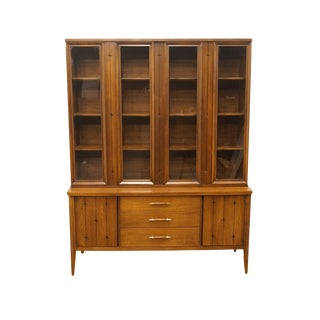 "Mid Century Modern Broyhill Furniture Premier Division 55"" Display China Cabinet For Sale"