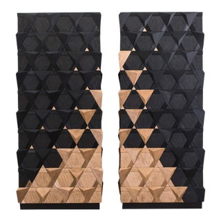 Jean-Luc Le Mounier, Pair of Origami Armoires, Fr, 2016 For Sale