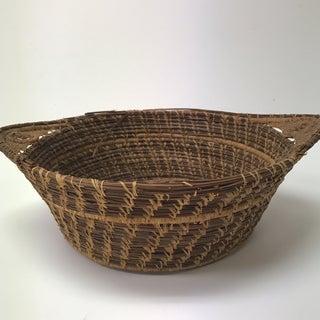 Vintage Pine Needle Decorative Artisanal Basket Preview