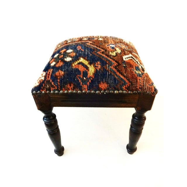 Antique Tribal Qashqa'i Fragment Stool For Sale - Image 7 of 9