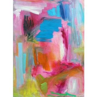 """Tropics"" by Trixie Pitts Large Abstract Oil Painting For Sale"