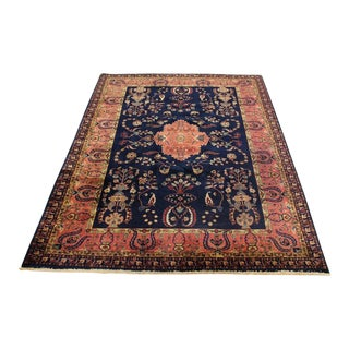 Antique Persian Sarouk Farahan Hand-Knotted Rug 6′10″ × 10′ For Sale
