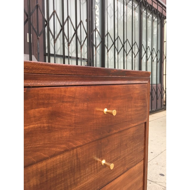 Mid Century Lowboy With Dotted Brass Knobs For Sale - Image 10 of 13