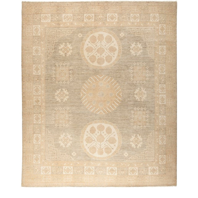 """Traditional Hand-Knotted Area Rug 8' 1"""" x 9' 7"""" For Sale"""