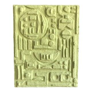 'SoCal Hieroglyph' Minimalist Plaster Painting For Sale