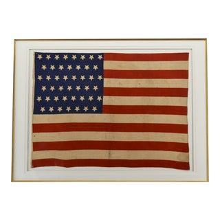 Antique 45 Star American Flag Framed Circa 1896 36x47 For Sale