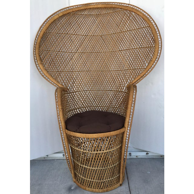 Vintage Rattan Peacock Chair - Image 2 of 8