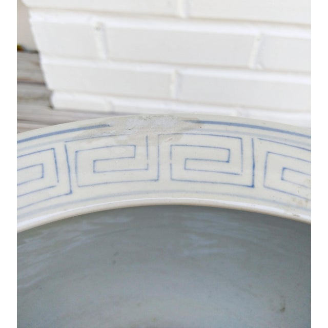 Asian Large Asian Blue & White Pot For Sale - Image 3 of 7
