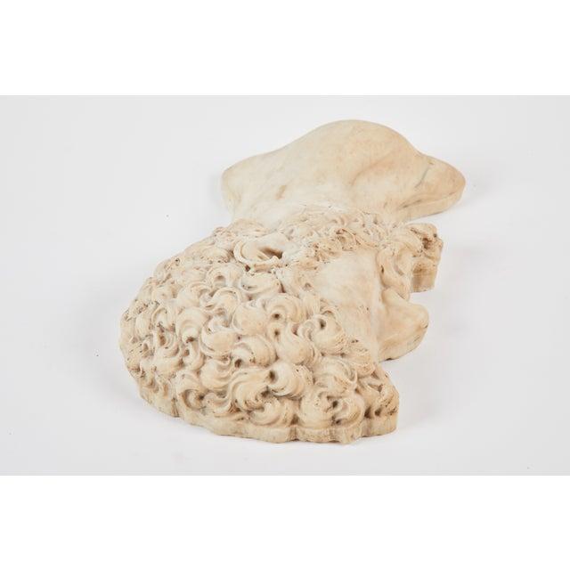 """19th C. Italian """"Lucius Verus"""" Roman Emperor Marble Relief For Sale - Image 4 of 6"""