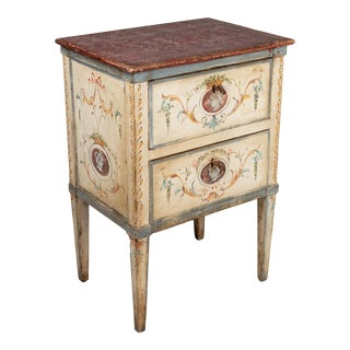 19th Century Florentine Style Cream Painted Chest of Drawers For Sale