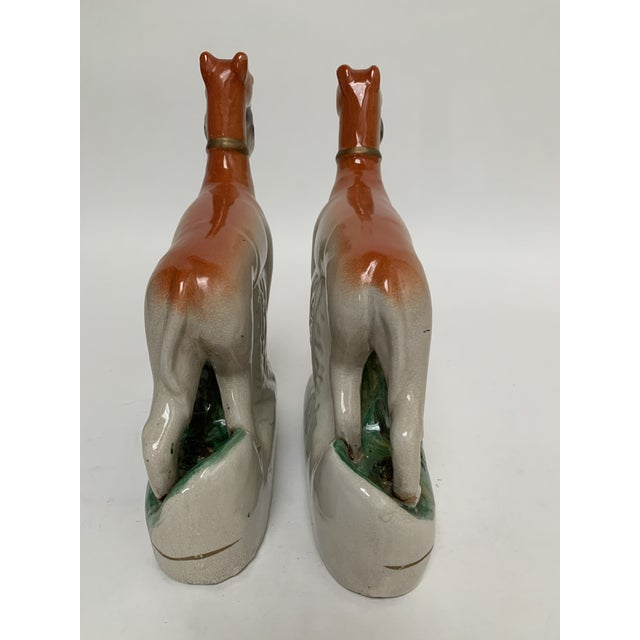 1950s Staffordshire Ceramic Dogs – a Pair For Sale - Image 5 of 12