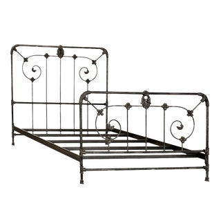 Iron Normandy Bed Cal King For Sale