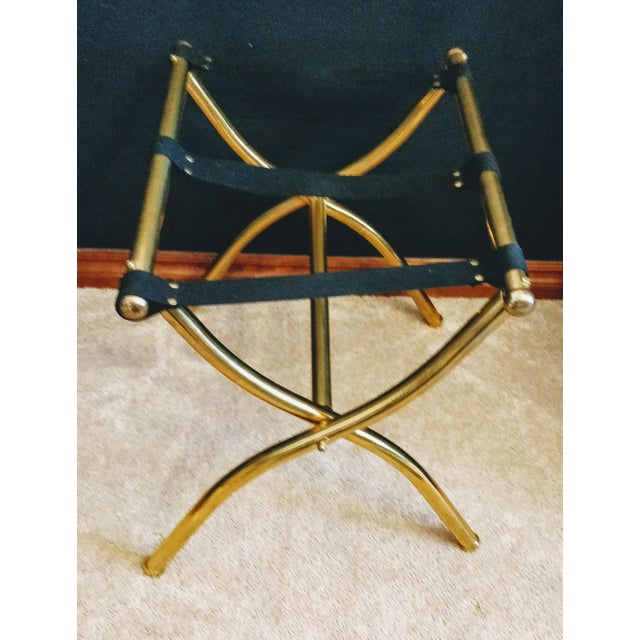 Late 20th Century Brass Luggage Rack / Valet For Sale - Image 9 of 11