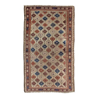 Early 20th Century Antique Afghan Baluch Petite Rug - 2′2″ × 3′11″ For Sale