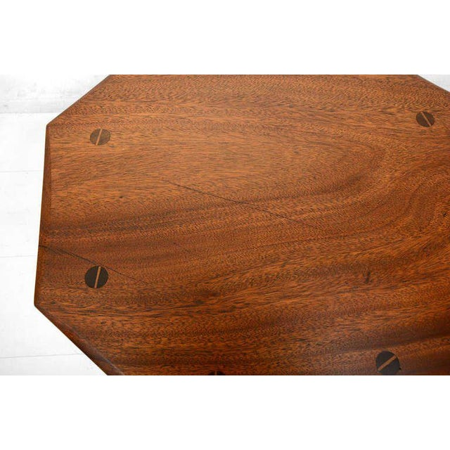 Mahogany Octagon Solid Mahogany Side Table For Sale - Image 7 of 8