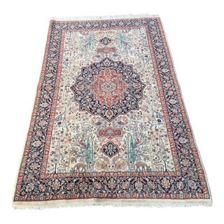 "Vintage Tabriz Rug 90""x55"" For Sale"