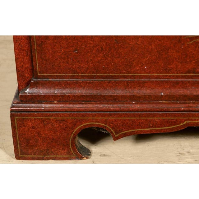 19th Century Biedermeier Continental Faux Bois Painted Pine Cylinder Secretary Bookcase For Sale - Image 9 of 12