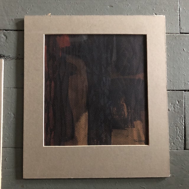 1980s Original Vintage Ray Kinlock Abstract Paintings on Fabric - Collection of 7 For Sale - Image 5 of 9
