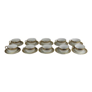 Cauldon Cups & Saucers - Set of 10 For Sale