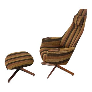 1960s Vintage Adrian Pearsall Lounge Chair & Ottoman For Sale