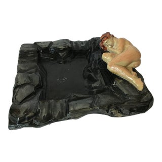 Art Deco Nude Lady Dish For Sale