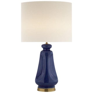 Aerin Lauder Kapila Blue Table Lamp With Keyless Dimmer For Sale