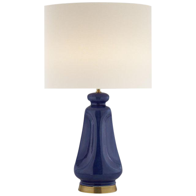 Arron Laider Kapila Blue Table Lamp With Keyless Dimmer For Sale
